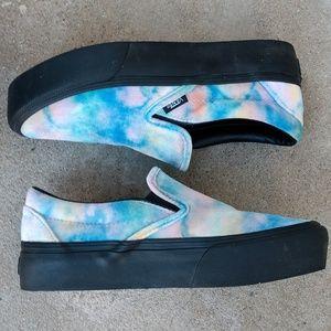 a5b8de760d86b8 Vans Shoes - VANS Classic Slip On Velvet Tye Dye Platform